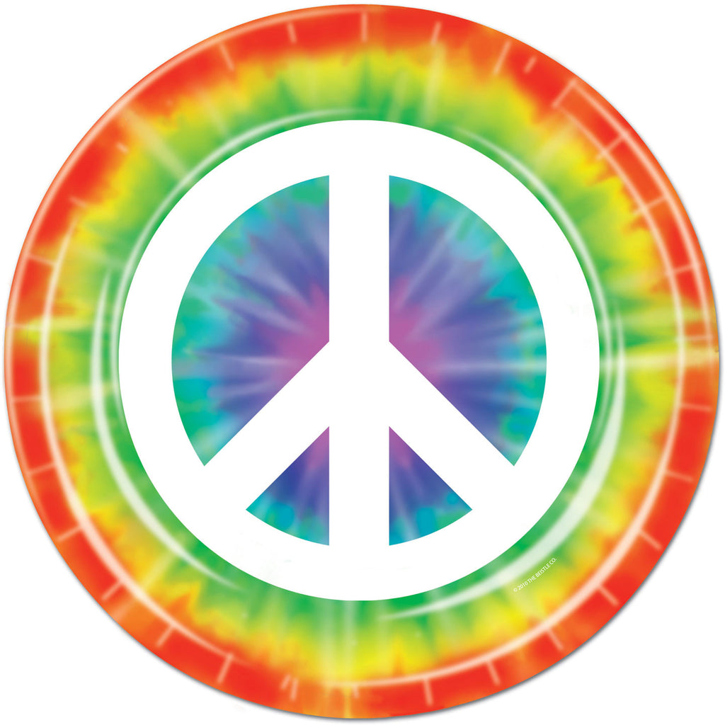 Groovy Peace Sign Dinner Plates