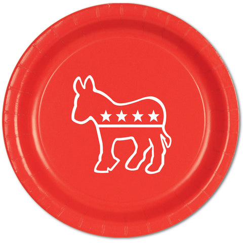 Democratic Red Dinner Plates