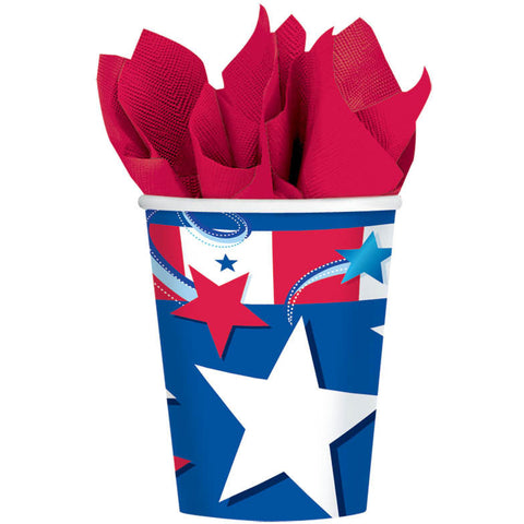 Independence Day 9oz Paper Cups (8ct)