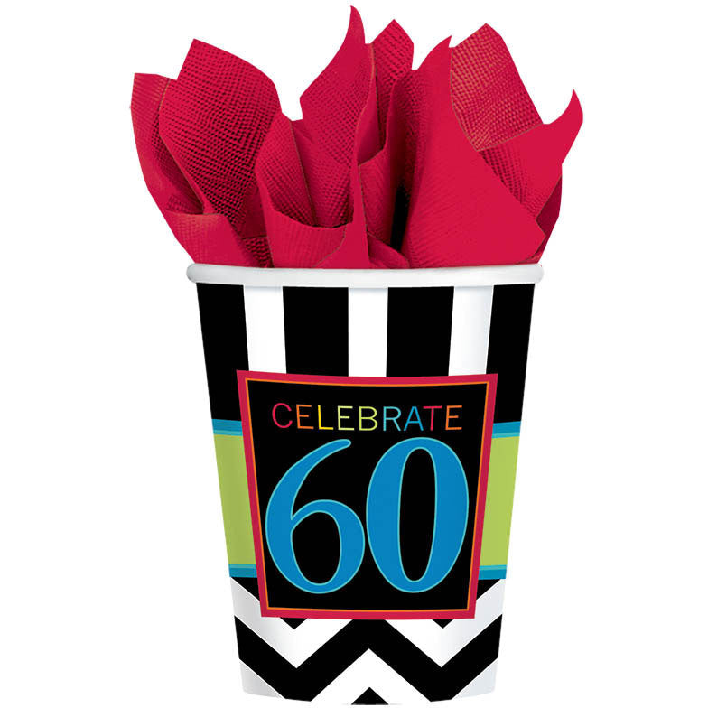 60 Celebrate 9oz Paper Cups (8ct)