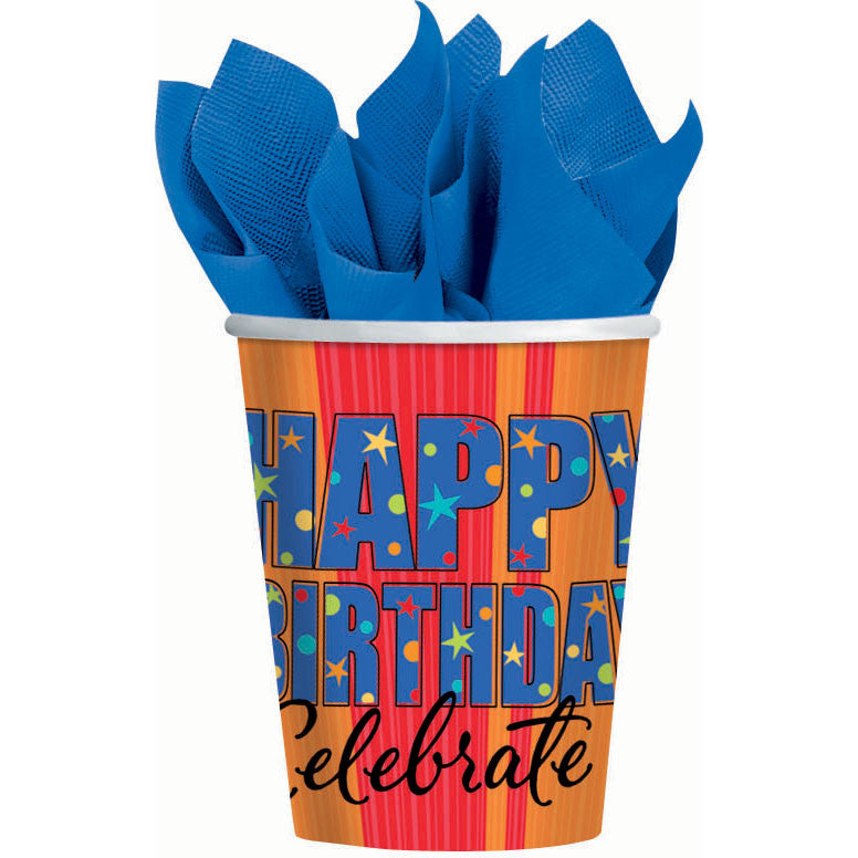 A Year To Celebrate Happy Birthday 9oz Paper Cups (8ct)