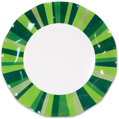 Green Stripe Plates