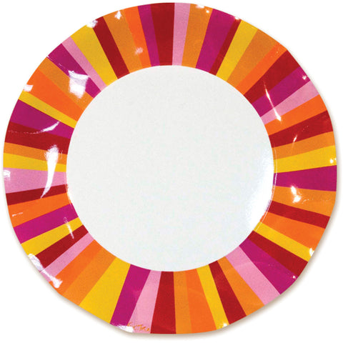 Party Stripe Large Plates