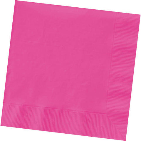 Bright Pink Beverage Napkins (125ct)