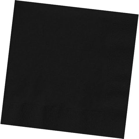 Jet Black Beverage Napkins (125ct)