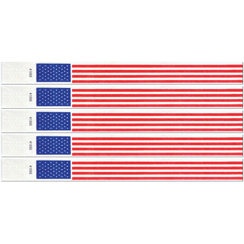 American Flag Wristbands (100ct)