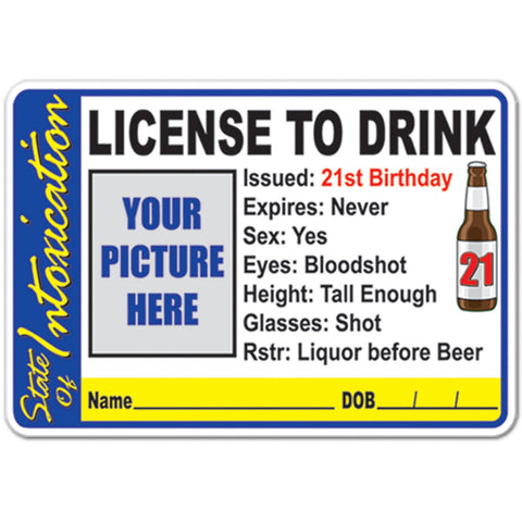 License To Drink Button