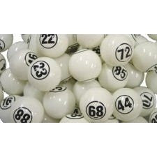 White Single Number Ball