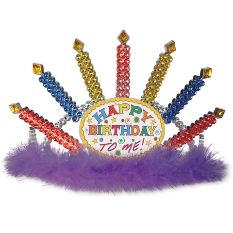 Plastic Light-Up Happy Birthday Tiara