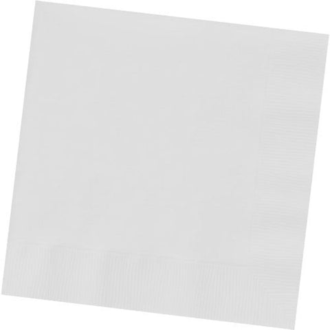 Frosty White Dinner Napkins (50ct)