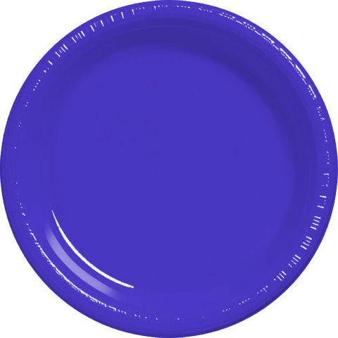 New Purple Plastic Dessert Plates (50ct)