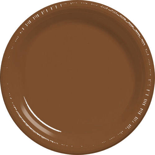 Chocolate Brown Plastic Banquet Plates (50ct)