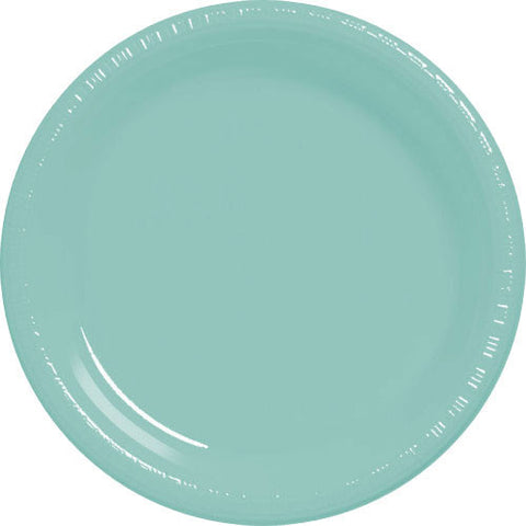 Robin's Egg Blue Plastic Banquet Plates (50ct)