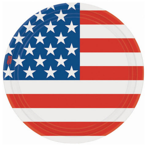 Stars and Stripes Dessert Plates (8ct)