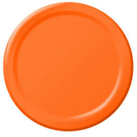 Orange Peel Paper Dinner Plates (50ct)