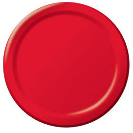 Apple Red Paper Dinner Plates (50ct)