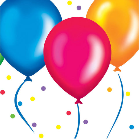 Birthday Balloons Luncheon Napkins (18ct)