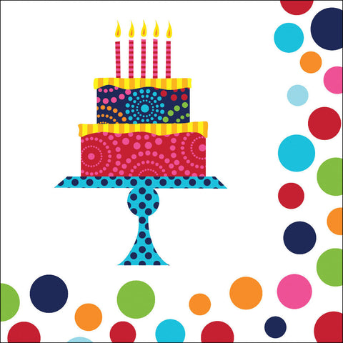 Birthday Cake Stand Luncheon Napkins (16ct)