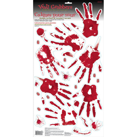 Bloody Hand Prints Wall Grabber