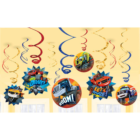 Blaze and The Monster Machines Hanging Swirls (12 ct)
