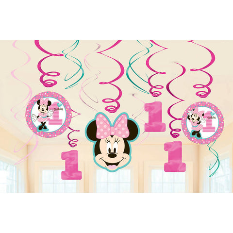 Minnie Fun To Be One Hanging Swirls (12 ct)