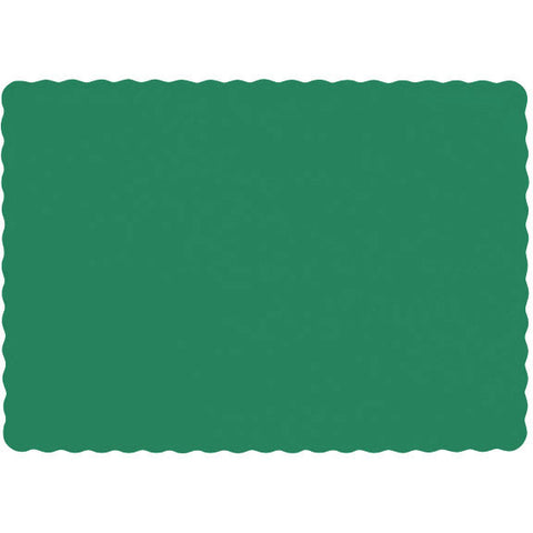Festive Green Paper Placemats (50ct)