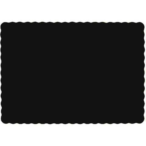 Jet Black Paper Placemats (50ct)