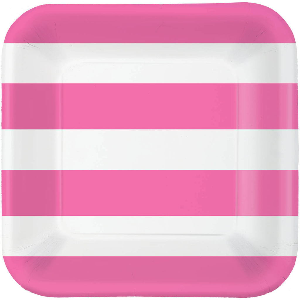 Bright Pink Cabana Dot Dinner Plates (40ct)