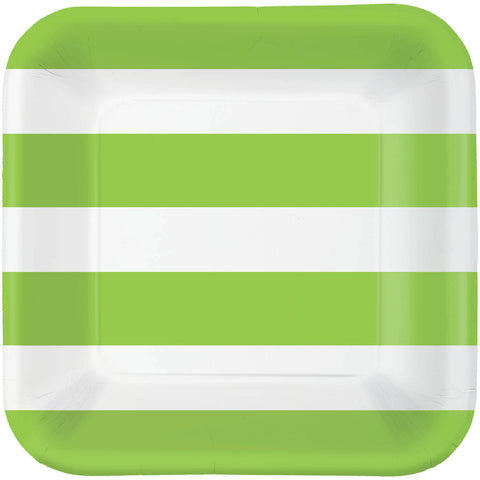 Kiwi Cabana Stripe Dinner Plates (40ct)