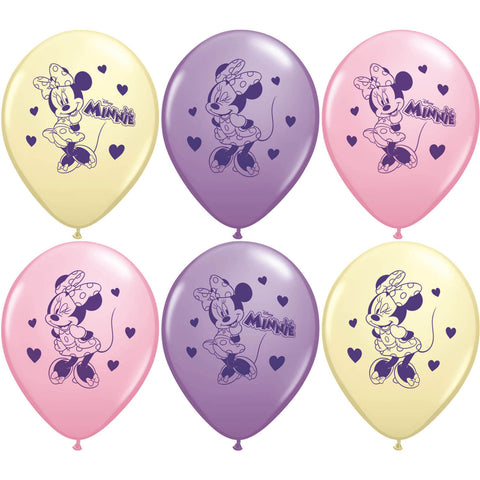 "12"" Minnie Mouse Balloons (6ct)"