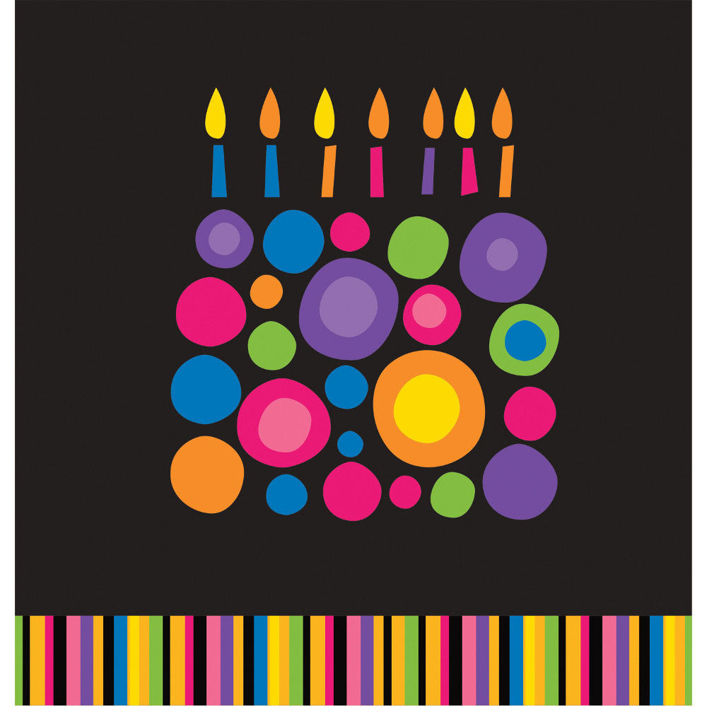 Birthday Cake Dots Plastic Tablecover