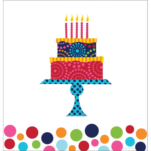 Birthday Cake Stand Plastic Tablecover