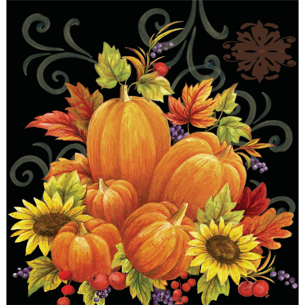 Pumpkin Tapestry Plastic Tablecover