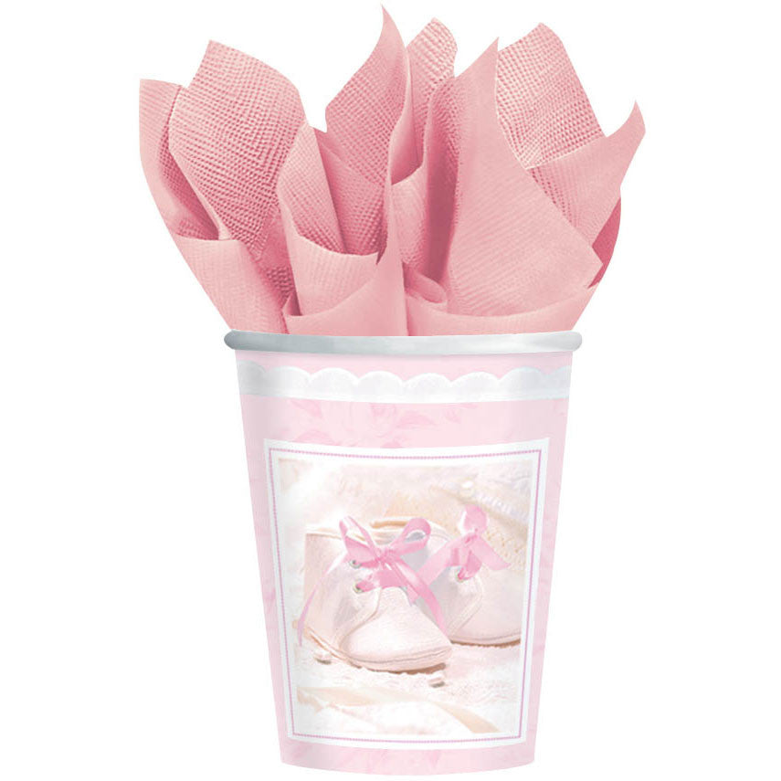 Tiny Blessing Pink 9oz Paper Cups (18ct)