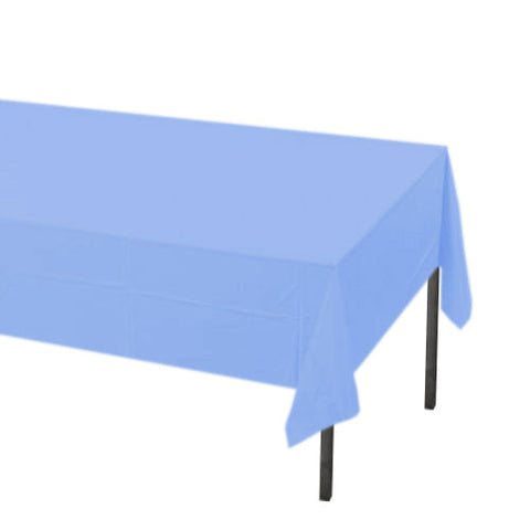 Pastel Blue Rectangle Plastic Tablecover