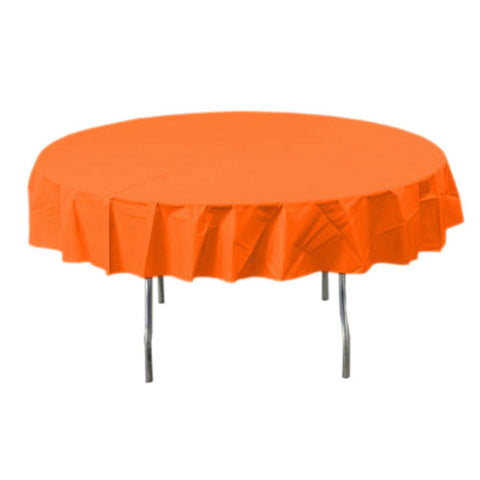 Orange Peel Round Plastic Tablecover