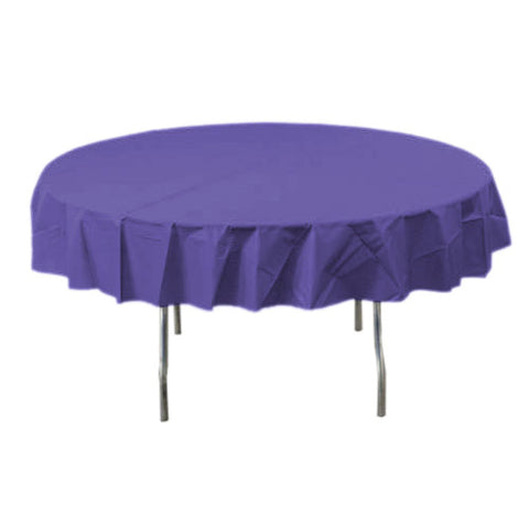 New Purple Round Plastic Tablecover
