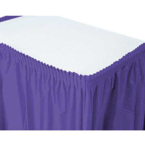 New Purple Plastic Table Skirt