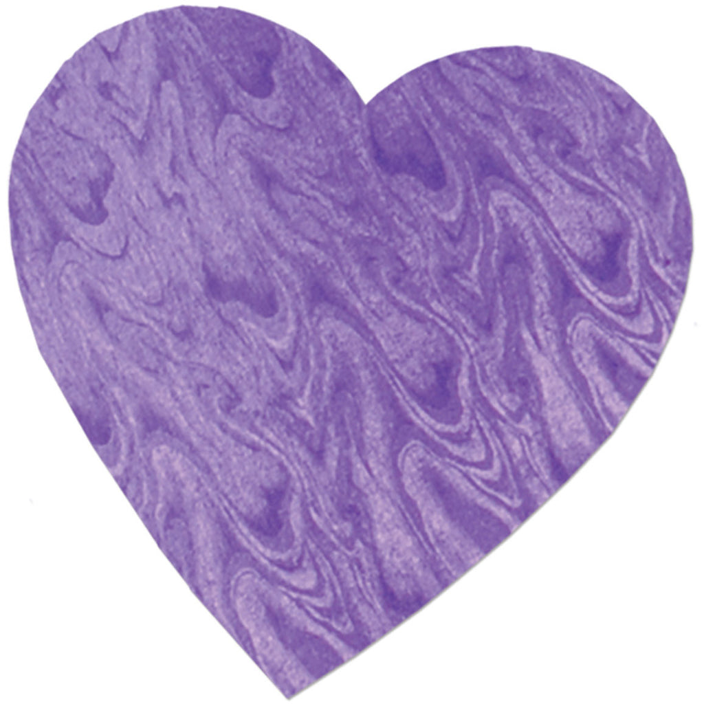 Embossed Foil Heart Cutout