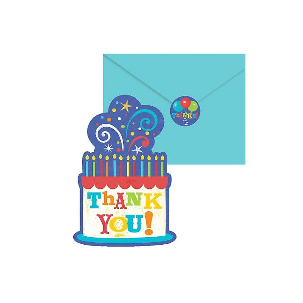 Birthday Fever Thank You Notes (20ct)