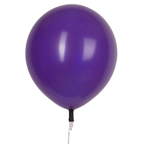 "17"" Valve and Ribbon Crystal Purple Balloons (72ct)"
