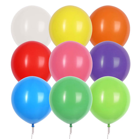 "17"" Valve and Ribbon Standard Assorted Balloons (72ct)"