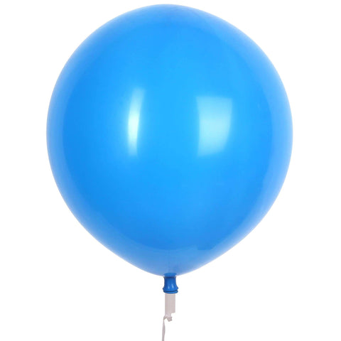 "17"" Valve and Ribbon Standard Blue Balloons (72ct)"