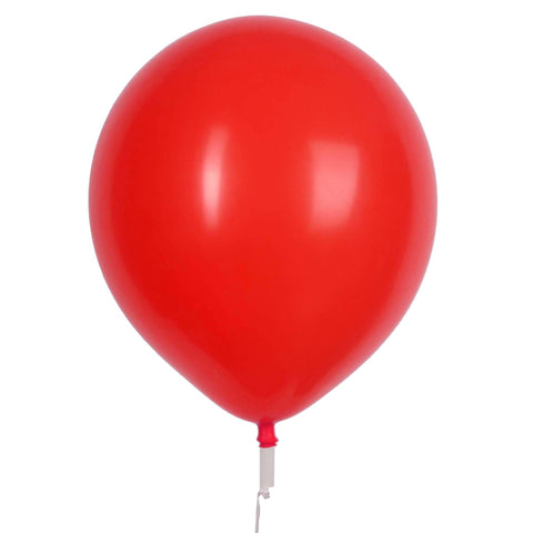 "17"" Valve and Ribbon Standard Red Balloons (72ct)"
