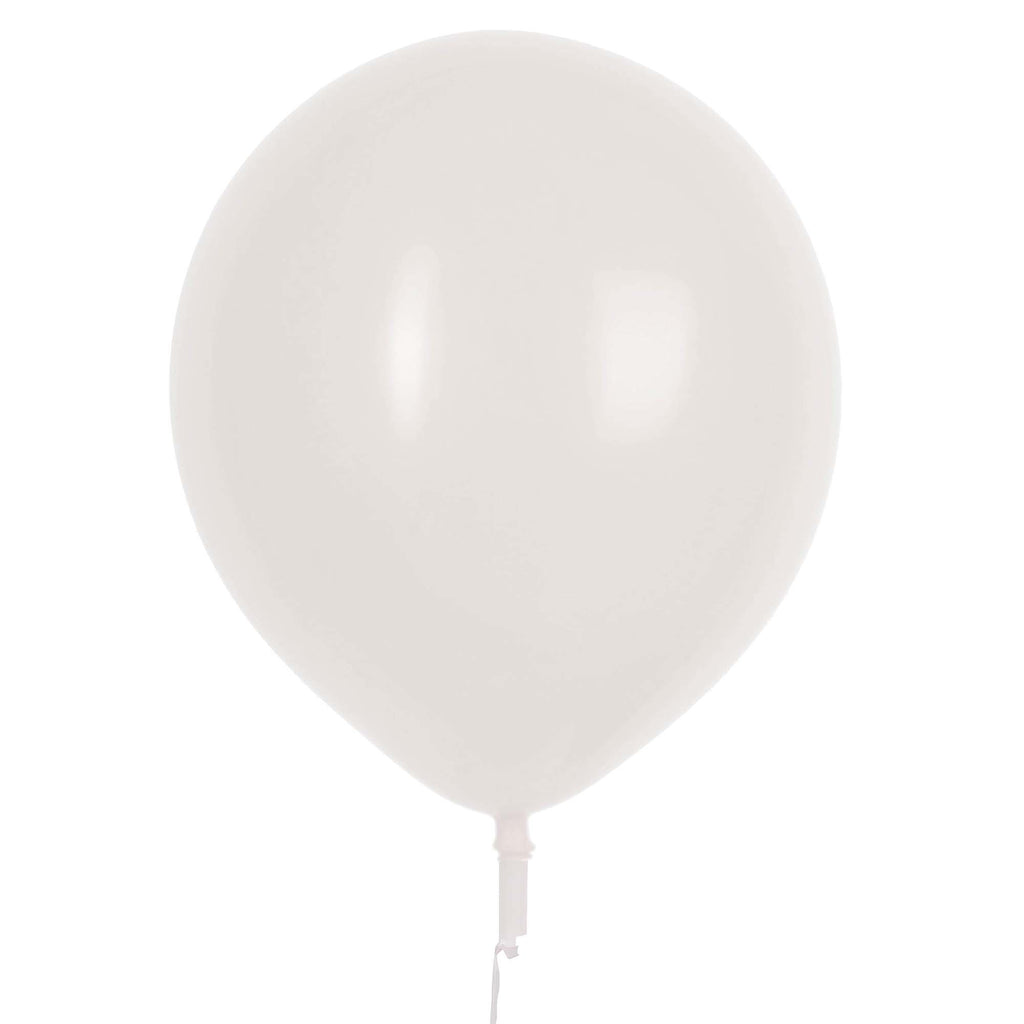"17"" Valve and Ribbon Standard White Balloons (72ct)"