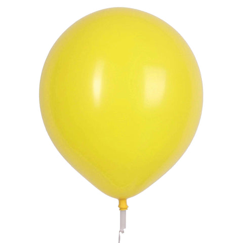"17"" Valve and Ribbon Standard Yellow Balloons (72ct)"