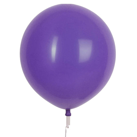 "17"" Valve and Ribbon Standard Violet Balloons (72ct)"