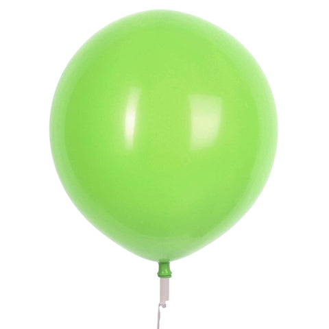 "17"" Valve and Ribbon Standard Lime Green Balloons (72ct)"