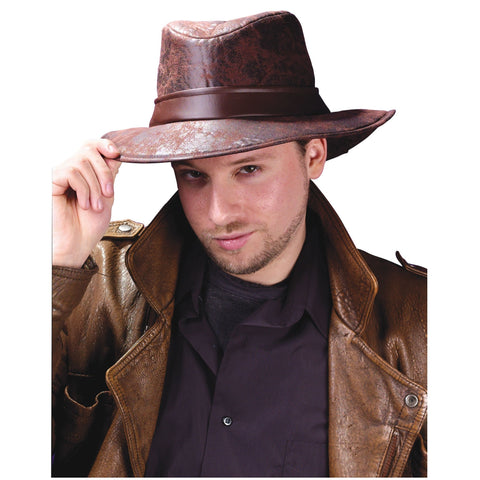 Fun World Brown Fedora Hat