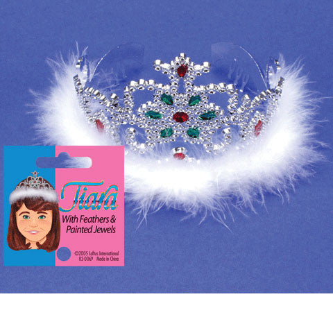 Tiara w/Feathers & Painted Jewels